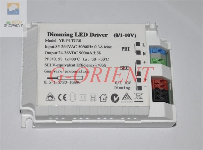 Universal 600ma 0-10V PWM Dimmable constant current led driver power supply