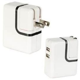 white 110-240V AC super lower 5v 2100ma universal usb power adapter for ipad