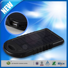 Dual USB Port Backup Power Bank , 5000mAh Solar Panel Backup External Battery